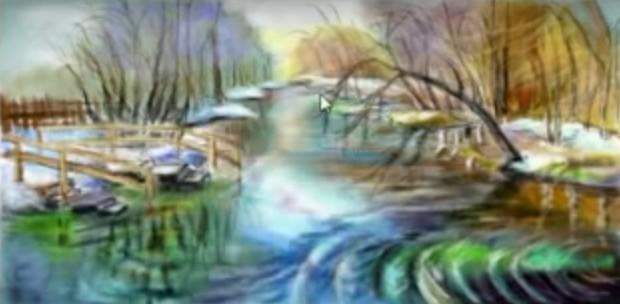 Как нарисовать пейзаж В Контакте