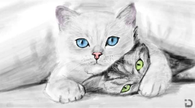Как нарисовать котенка В Контакте